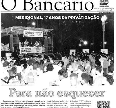 O Bancário | Edição nº 23 | 10 de dezembro de 2014