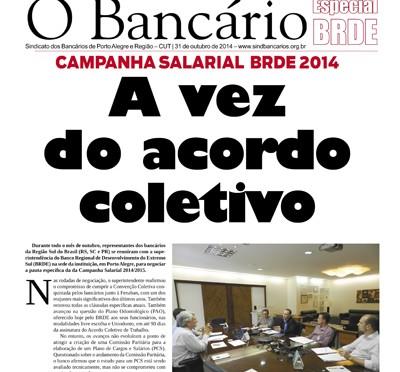 O Bancário | Edição especial BRDE |31de outubro de 2014