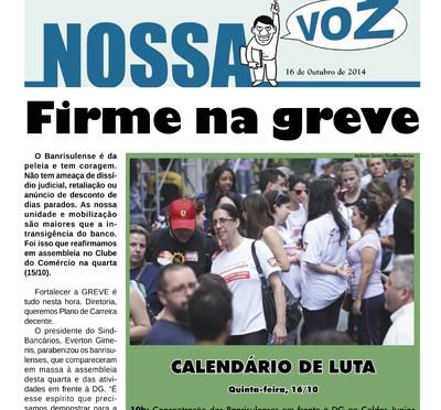 Nossa Voz | Edição 16 de outubro de 2014