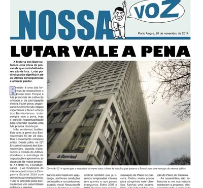 Nossa Voz | Edição 26 de novembro de 2014