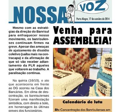 Nossa Voz | Edição 17 de outubro de 2014