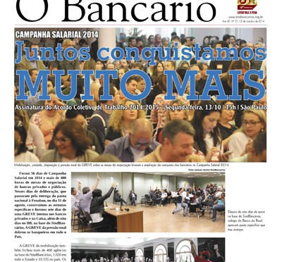 O Bancário | Edição nº 21 | 13 de outubro de 2014