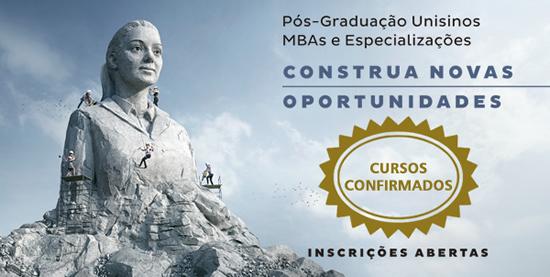 Confirmados MBAs, MBEs, Pós-MBAs e Especializações 2015/1 na Unisinos