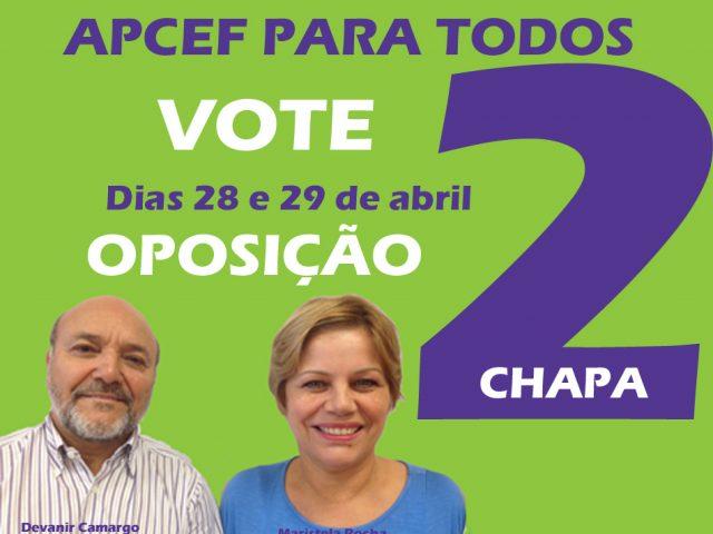 Chapa 2, de oposição, propõe revitalizar APCEF para eleiçõ...