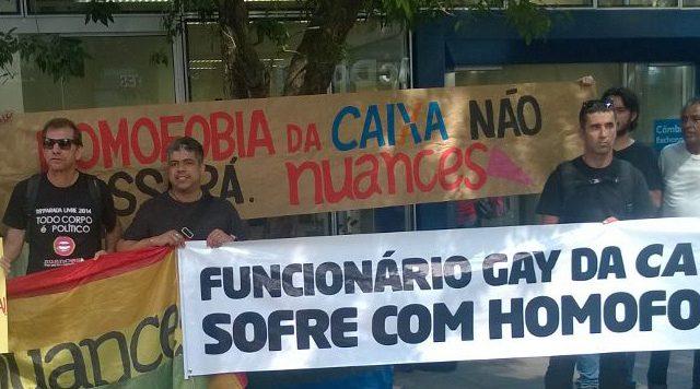 Nuances protesta contra caso de homofobia em frente à agência ...