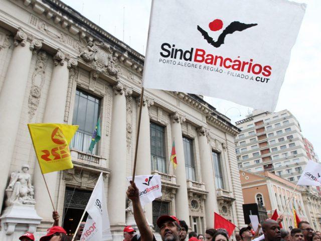 Bancários param os bancos com mobilização forte e ...