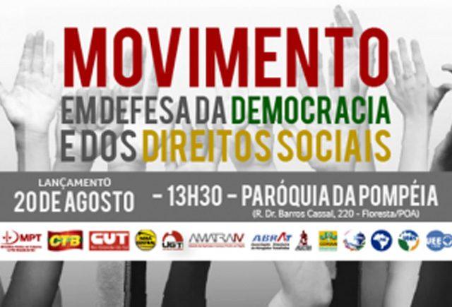 SindBancários apoia Ato Nacional de 20 de agosto, por Direitos, ...