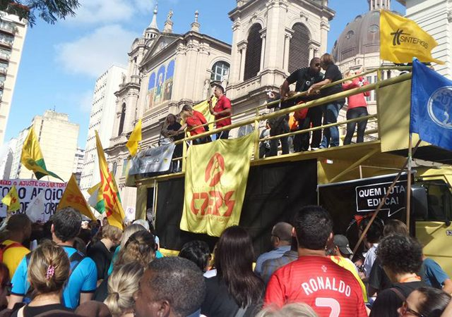SindBancários leva solidariedade a servidores estaduais em protesto no ...