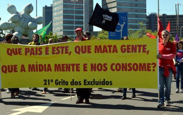 """""""Queremos democracia e direitos"""", defende CUT-RS no 21º Grito dos Excluí..."""