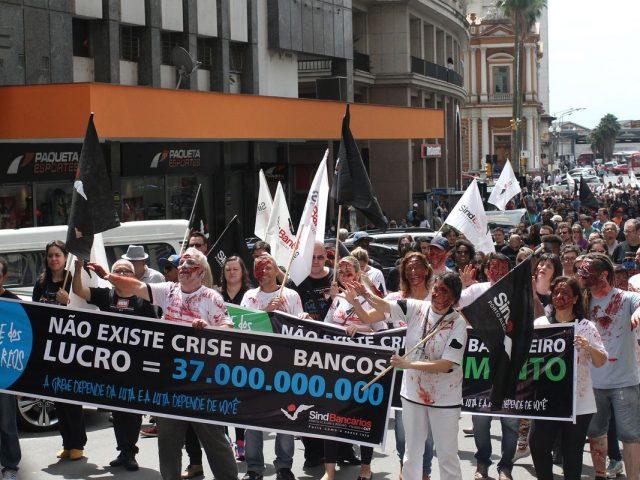 Bancários mantêm força da greve no nono ...