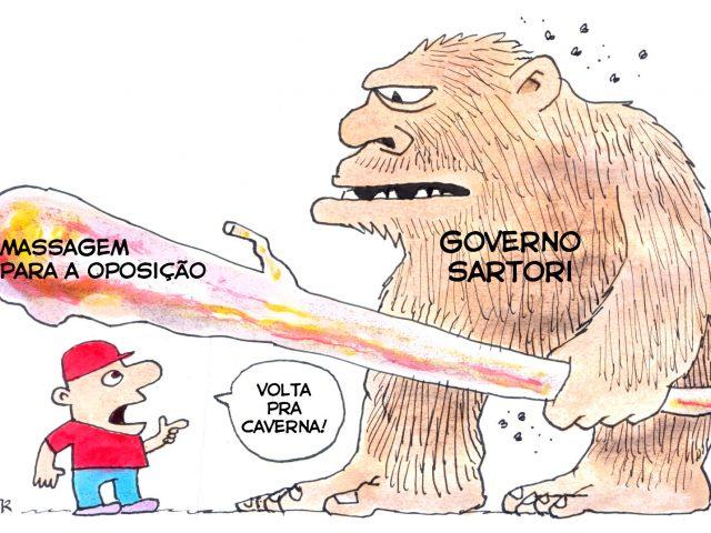 Marcando em cima – Caos na segurança pública. Sartori ...