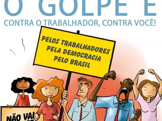 Contraf-CUT divulga folheto contra o golpe aos direitos dos trabalhadores