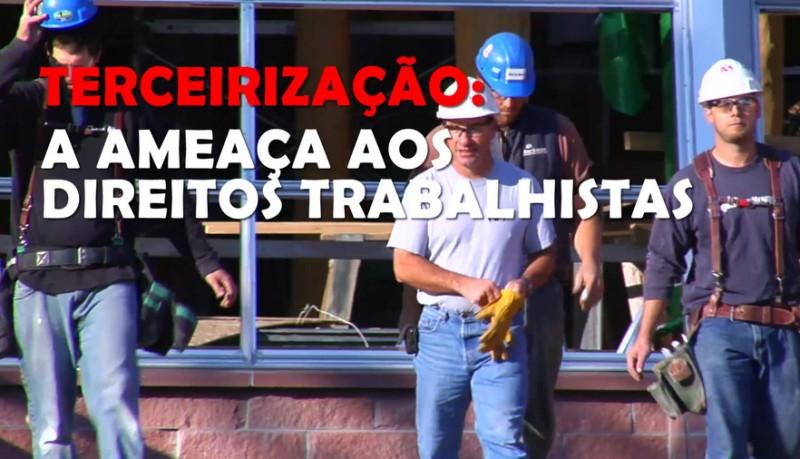 Assista ao vídeo: Terceirizar não moderniza o trabalho!