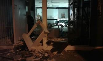 Criminosos usam explosivos para atacar banco em Vale Verde, no Vale do Rio Pardo