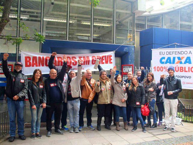 Bancários de Porto Alegre dão exemplo de mobilizaçã...