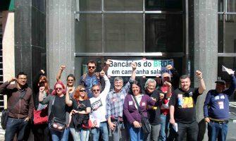 Bancários fortalecem apoio ao BRDE e Badesul no 25º dia de greve nacional