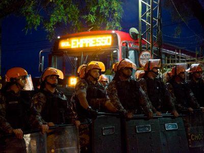 Truculência da Brigada Sartoriana avança com violência sobre protestos para ajudar golpes de Temer nos direitos dos trabalhadores