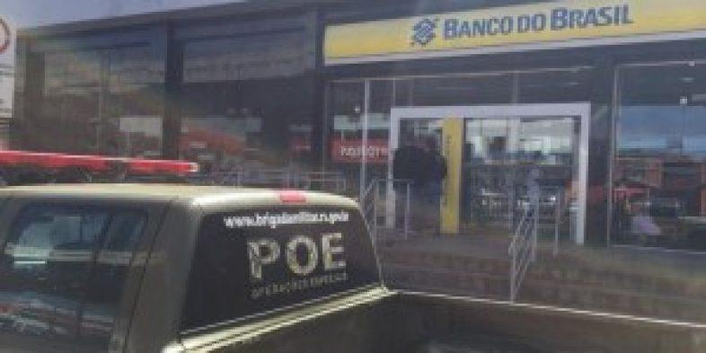 Criminosos atiram contra sede da BM e atacam duas agências bancárias em Parobé