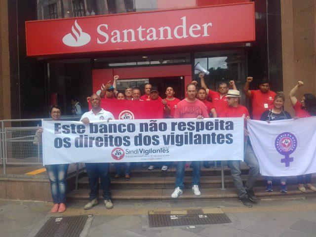 Vigilantes paralisam agência do Santander em Porto Alegre contra ...