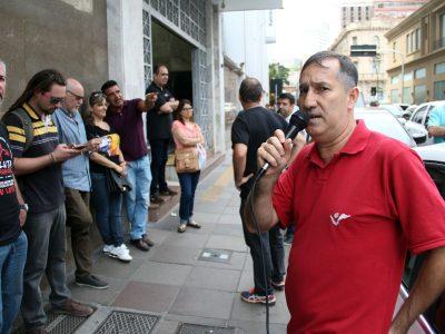 Banrisul: Sindicato concentra em frente a DG e alerta para união em defesa do banco e dos empregos