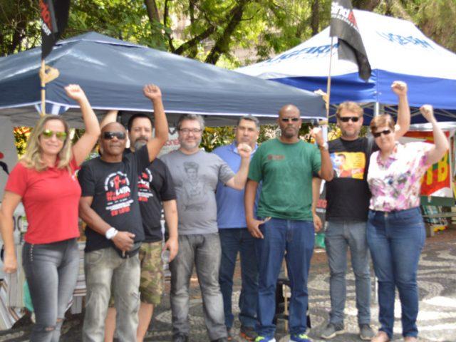 SindBancários monta seu espaço na Praça da ...