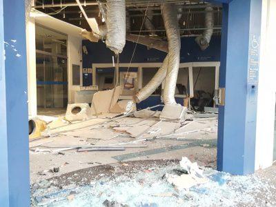 Quadrilha com 16 criminosos explode agência da Caixa em Nova Hartz, no Vale do Sinos
