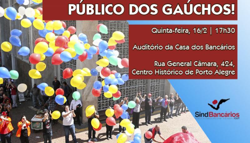 Plenária dos Banrisulenses organiza, nesta quinta-feira, 16/2, mobilização em defesa do Banrisul público