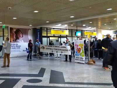 Aeroporto: CUT, bancários e outras entidades  pressionam deputados contra retrocessos de Temer
