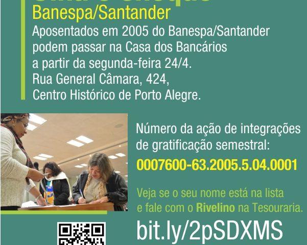 Aposentados de 2005 do Banespa já podem buscar seus cheques de ...