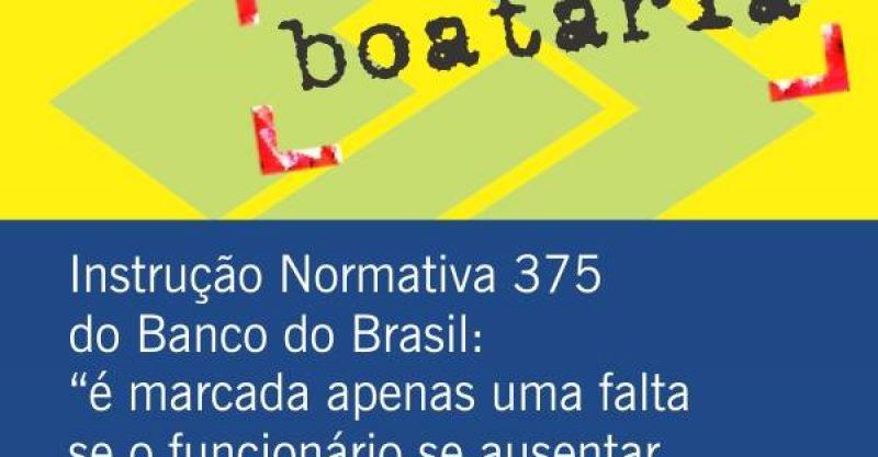 Norma do Banco do Brasil impede descontos por falta em véspera de dia de descanso. Greve é legal e não pode prejudicar carreira