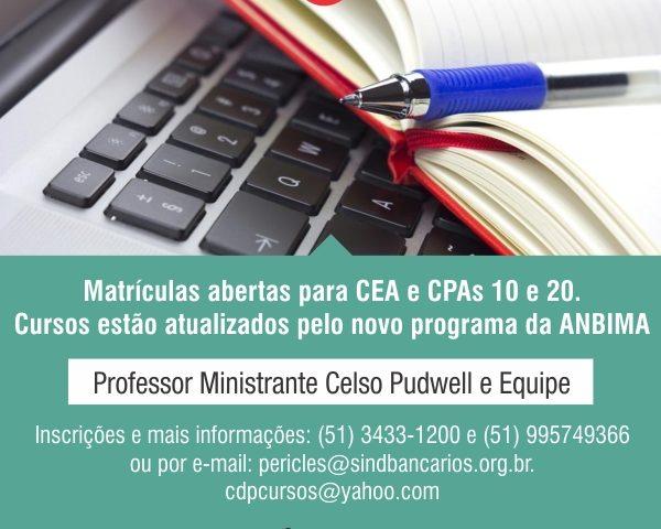 Preste atenção que tem inscrições abertas para CPA-10, ...