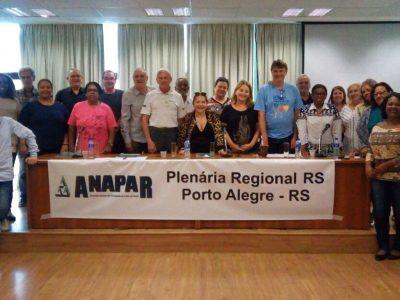 Plenária regional RS da Anapar repudia reformas da Previdência e trabalhista de Temer