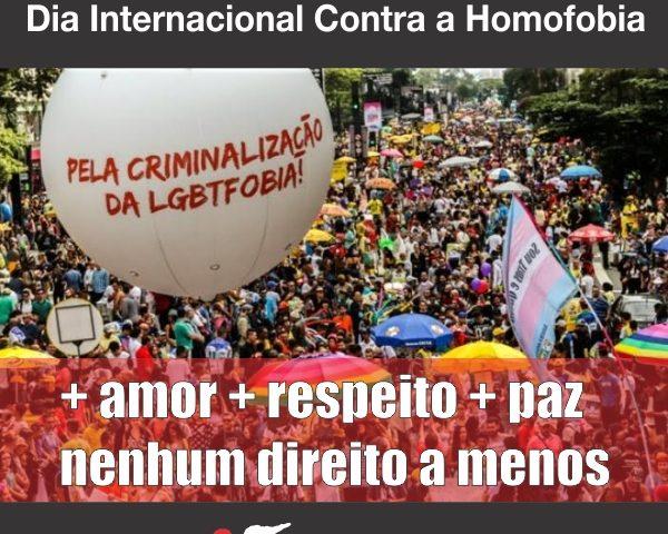No dia mundial contra a LGBTTfobia, bancários não ...
