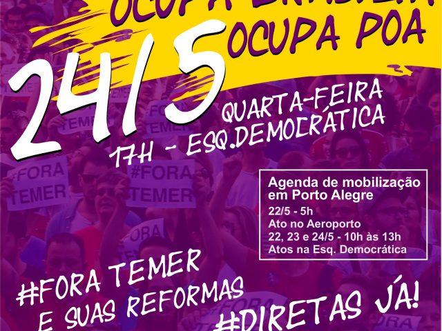 Ato da CUT-RS e centrais no Aeroporto de Porto Alegre ...