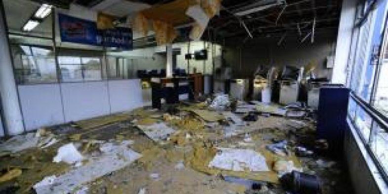 Criminosos explodem três agências bancárias em Encruzilhada do Sul na madrugada desta sexta-feira