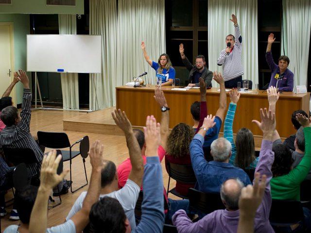 Assembleia da categoria aprova por unanimidade participação dos bancá...