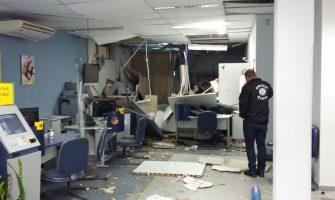 No sábado, estado registra três ataques a bancos com uso de explosivos, em duas cidades
