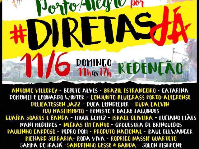 """Ato show """"Porto Alegre por Diretas Já"""" amplia luta contra ..."""