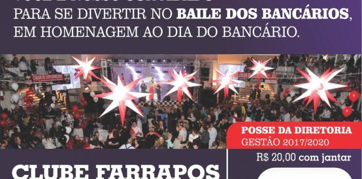 Já estão à venda os convites para o tradicional Baile dos Bancários na sexta, 25/8