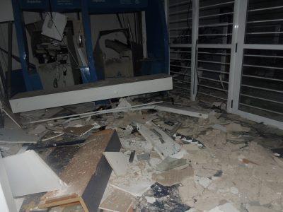 Criminosos explodem caixas eletrônicos do Banrisul em Tabaí, na madrugada do dia 21