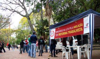 Próximo dia 27 terá coleta nacional de assinaturas pela anulação da Reforma Trabalhista, com participação dos bancários