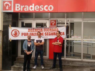 Sindicato suspende funcionamento de agência do Bradesco na Rua dos Andradas por questão de segurança