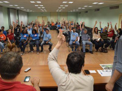 Bancários decidem em assembleia participar dos atos e ações do Dia Nacional de Mobilizações convocado pelas centrais sindicais para a sexta, 10/11
