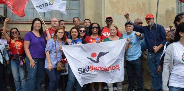 Dia de Luta contra Reforma da Previdência mobiliza bancários e sindicalistas em Porto Alegre