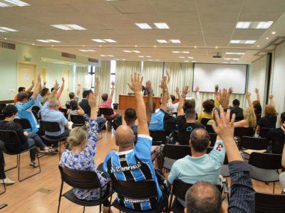 Bancários decidem em assembleia unânime participar da greve nacional do dia 5 em defesa da aposentadoria e dos bancos públicos