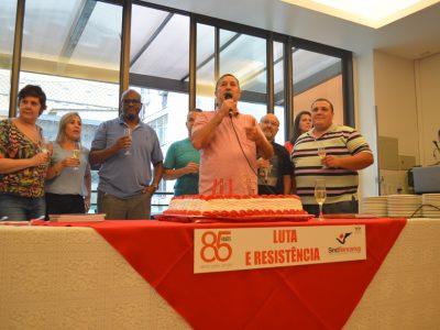 Sindicato comemora 85 anos destacando a união para enfrentar tempos difíceis