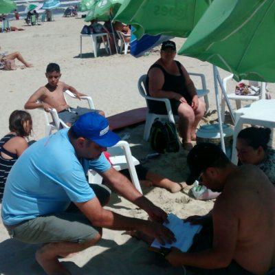 Ponha o pé na areia: coleta de assinaturas em defesa do Banrisul público prossegue no fim de semana. Participe!