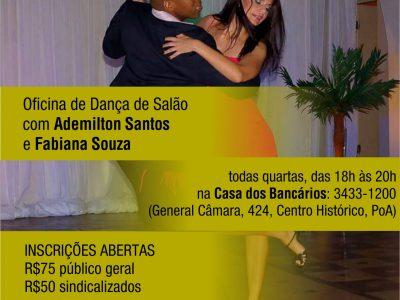 Oficina de Danças de Salão do Sindicato está com inscrições abertas e tem aulas todas as quartas-feiras