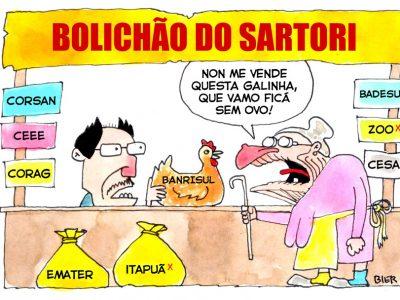 Sartori nem esconde mais entreguismo ao vender nova remessa de ações do Banrisul