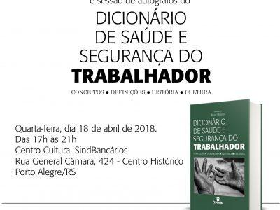 SindBancários sedia lançamento de dicionário inédito sobre segurança e saúde do trabalhador